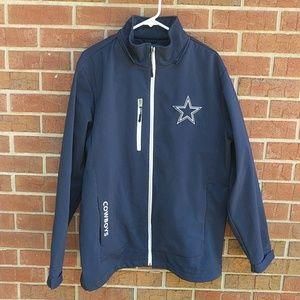 Dallas cowboy football jacket sz. Large